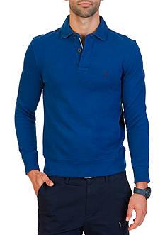 Nautica Long Sleeve French Rib Polo Shirt