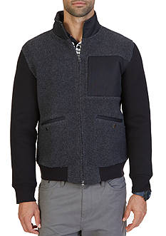Nautica Active Fit Sherpa Track Jacket