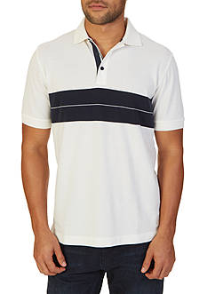 Nautica Classic Fit Chest Stripe Polo Shirt