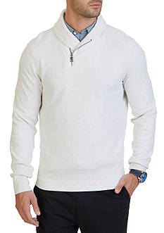 Nautica Zippered Shawl Collar Pullover