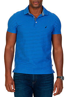 Nautica Slim-Fit Striped Performance Polo Shirt