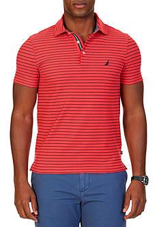 Nautica Slim-Fit Striped Performance Polo Shirt