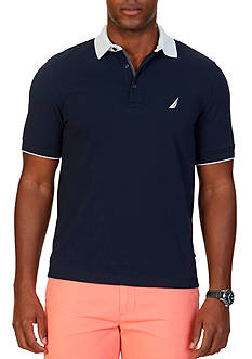 Nautica Classic-Fit Stretch Pique Polo Shirt