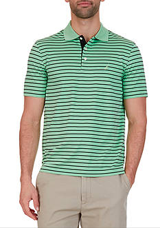 Nautica Classic-Fit Striped Wicking Polo Shirt