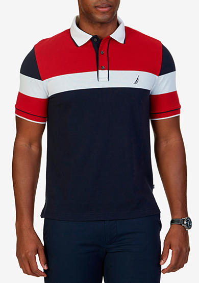 Nautica classic fit colorblock polo shirt belk for Nautica shirts on sale