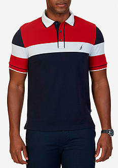 Nautica Classic-Fit Colorblock Polo Shirt