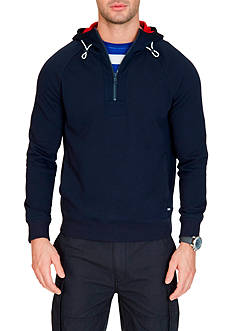 Nautica Slim-Fit French Terry Half Zip Hoodie
