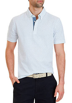 Nautica Classic Fit Dotted Polo Shirt
