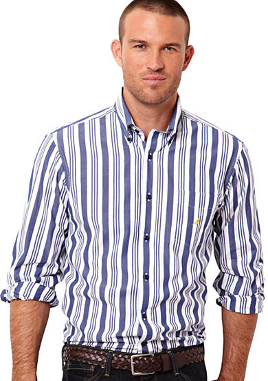 Nautica Big & Tall Bold Stripe Woven Shirt