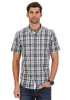 Nautica Big & Tall Plaid Short Sleeve Shirt