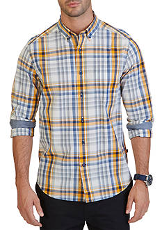 Nautica Big & Tall Whitecap Plaid Shirt
