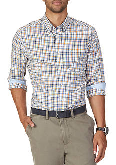 Nautica Big & Tall Wrinkle Resistant Sail Plaid Shirt