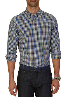 Nautica Big & Tall French Blue Plaid Shirt