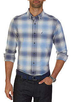 Nautica Big & Tall Indigo Plaid Shirt