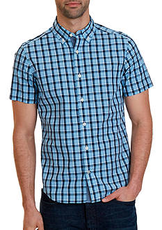Nautica Big & Tall Haze Plaid Short Sleeve Shirt