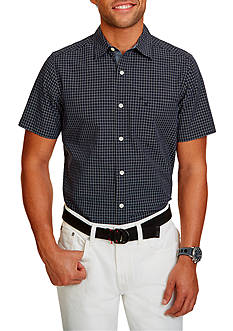 Nautica Big & Tall Maritime Check Short Sleeve Shirt