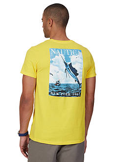 Nautica Big & Tall Jumping Swordfish Graphic Tee