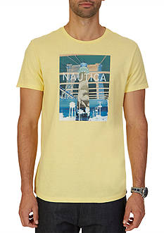Nautica Big & Tall Lighthouse Graphic T-Shirt