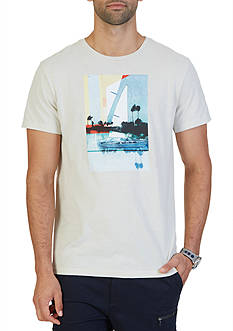 Nautica Big & Tall Sailing Collage Graphic T-Shirt