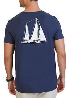 Nautica Big & Tall Sailboat Graphic T-Shirt
