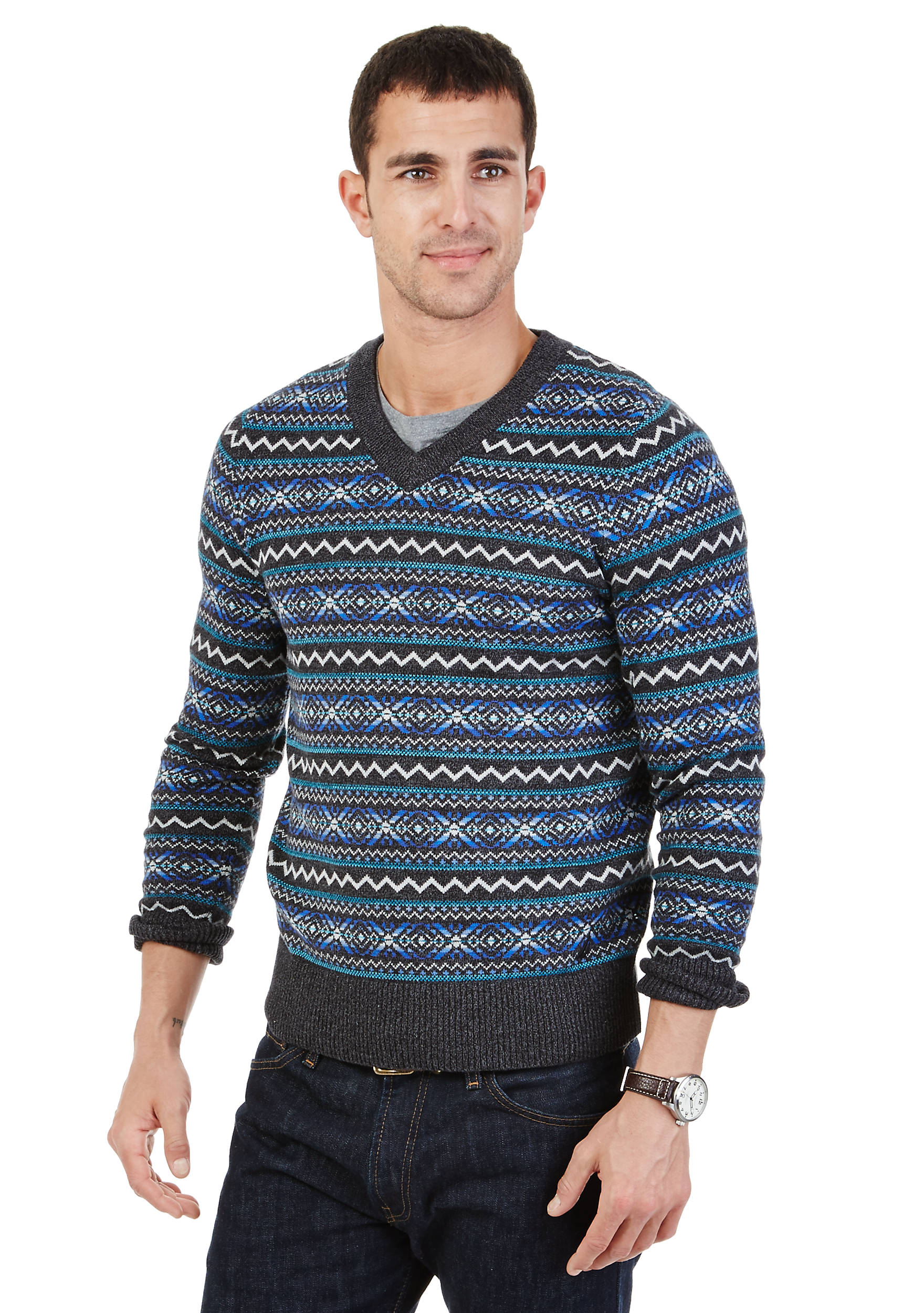 Nautica Fair Isle V-Neck Sweater | belk