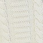 Sweaters for Men: Bone White Nautica Zip-Front Cable Knit Cardigan Sweater