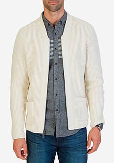 Nautica Zip Front Shawl Collar Cardigan