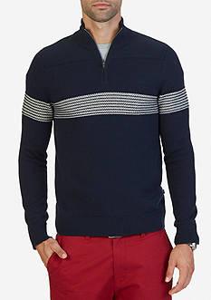 Nautica Textured Quarter Zip Pullover