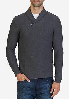 Nautica Buttoned Shawl Collar Sweater