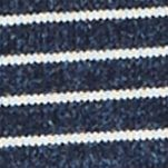Mens Designer Sweaters: Classic Navy Nautica Snow Cotton Striped Sweater