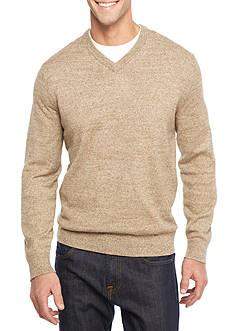 Nautica Snow Cotton V-Neck Sweater