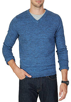 Nautica Snow Cotton V-Neck Sweater