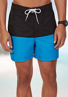Nautica Quick Dry Pieced Color Blocked Swim Trunks