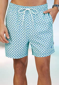Nautica Quick Dry 17 Printed Swim Trunks