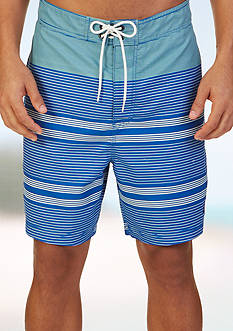 Nautica Quick Dry 19-in. Engineered Stripe Swim Trunks