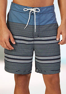 Nautica Quick Dry 19-in. Engineered Stripe Swim Trunks