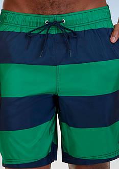 Nautica Quick Dry Striped Swim Trunks