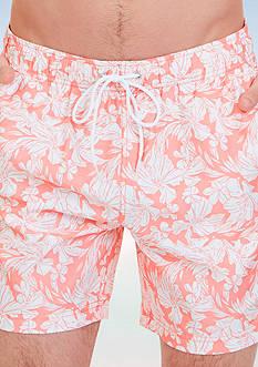 Nautica Quick Dry Floral Print Swim Trunk