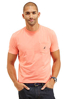 Nautica Short Sleeve Crew Neck Pocket Tee