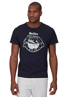 Nautica Atlantic NYC Crew Neckline Graphic Tee