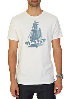 Nautica Abstract Sailboat Graphic T-Shirt