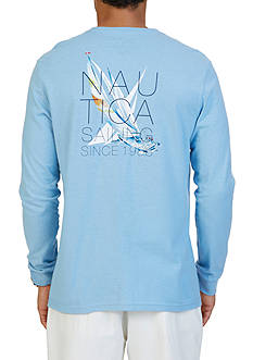 Nautica Sailing Graphic Long Sleeve T-Shirt