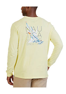 Nautica Sailing Graphic Long Sleeve T-Shirt