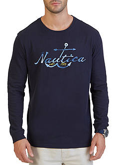 Nautica Anchor Graphic Long Sleeve T-Shirt