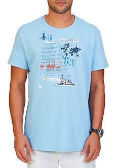 Nautica Map Graphic Tee Shirt
