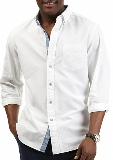 Nautica Long Sleeve Solid Oxford Shirt