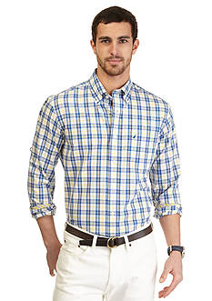 Nautica Classic-Fit Long Sleeve Non-Iron Plaid Shirt