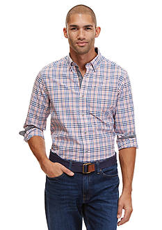 Nautica Long Sleeve Marina Plaid Poplin Shirt