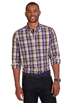 Nautica Classic Fit British Plaid Shirt