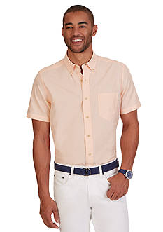 Nautica Classic Fit Poplin Short Sleeve Shirt